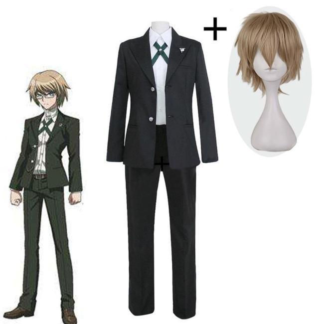 Danganronpa Dangan Ronpa Byakuya Togami Cosplay Costume Any Size Top Jacket Shirt Pants Men Fashion Outfit Uniform Wig