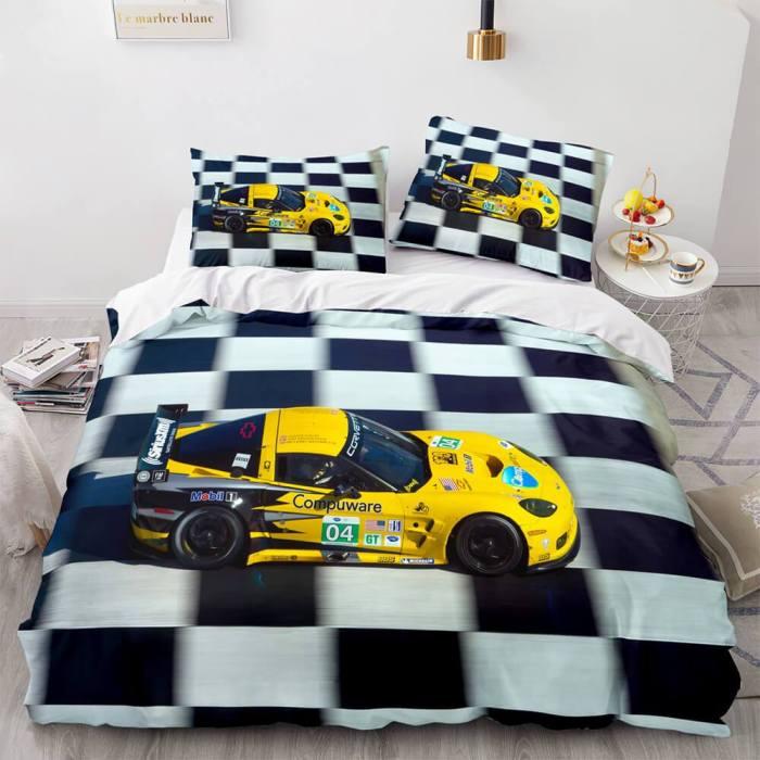 Sports Car Bedding Sets Race Car Duvet Covers Comforter Bed Sheets