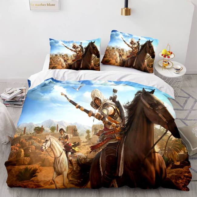 Assassin'S Creed Odyssey Bedding Set Duvet Covers Comforter Bed Sheets