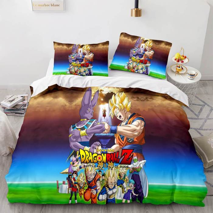 Dragon Ball Cosplay Bedding Sets Duvet Covers Comforter Bed Sheets