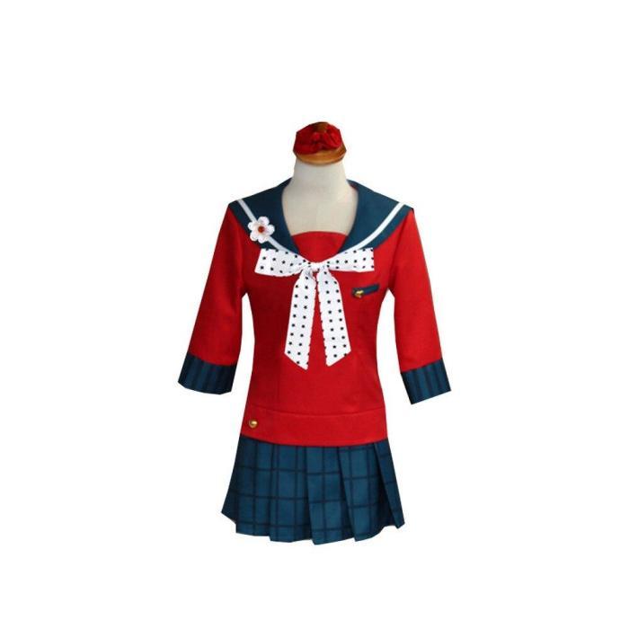 Anime Danganronpa V3 Killing Harmony Harukawa Maki Cosplay Costume Women School Uniform Girl Set Halloween Party Costume