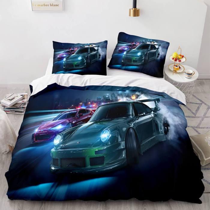 Forza Motorsport Bedding Set Quilt Duvet Covers Comforter Bed Sheets