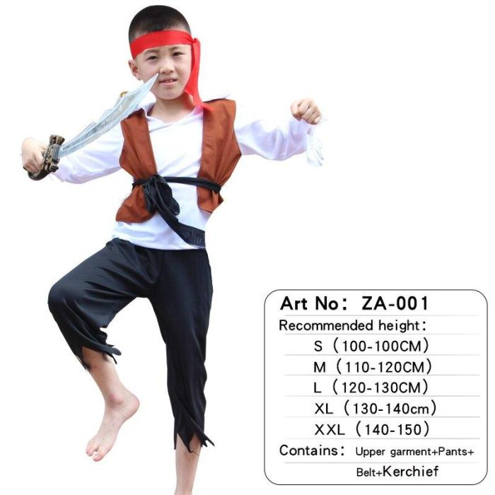 Halloween Pirate Captain Headwear Cosplay Costume Party Baby Boys Girls Bodysuits Christmas Fancy Clothes Children S-2Xl