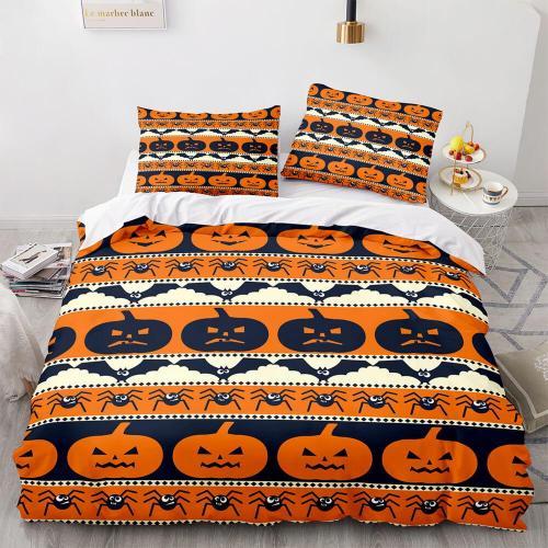 Halloween Pumpkin Cosplay Bedding Set Duvet Cover Comforter Bed Sheets