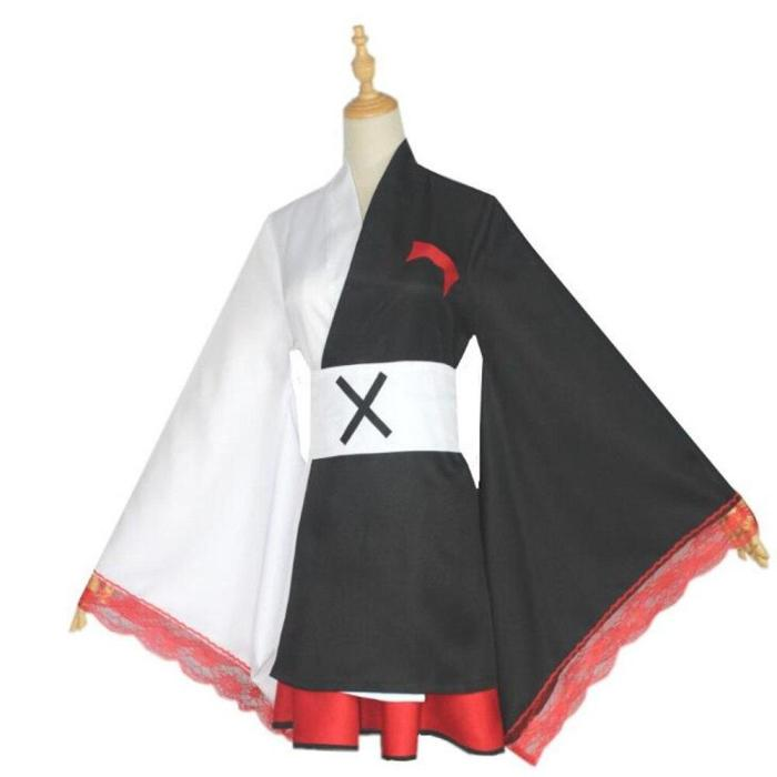 Anime Danganronpa Monokuma Dangan Ronpa Kimono Pinafores Dresses Women Cosplay Costumes Clothes