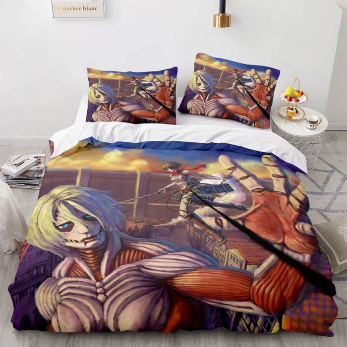 Attack On Titan Cosplay Bedding Sets Comforter Duvet Covers Sheets