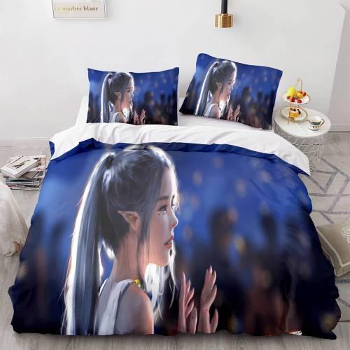 Ghost Blade Cosplay Comforter Bedding Sets Duvet Cover Bed Sheets