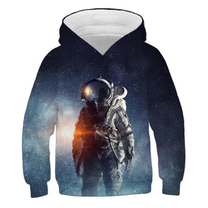Kids Clothes Boys Astronaut Space 3D Print Hoodies Children'S Clothing Cartoon Long Sleeve For Girls Autumn Pullovers Sweatshirt