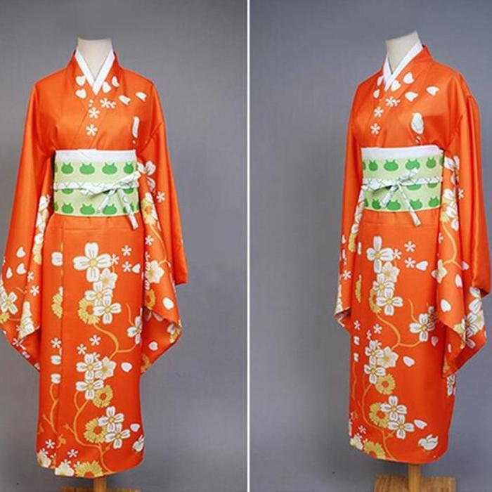 Anime Super Danganronpa 2 Saionji Hiyoko Kimono Set Cosplay Costume