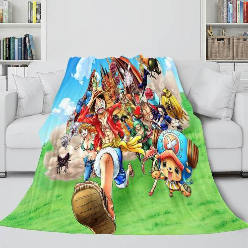 One Piece Throw Flannel Blanket Soft Cozy All Seasons For Sofa Bed
