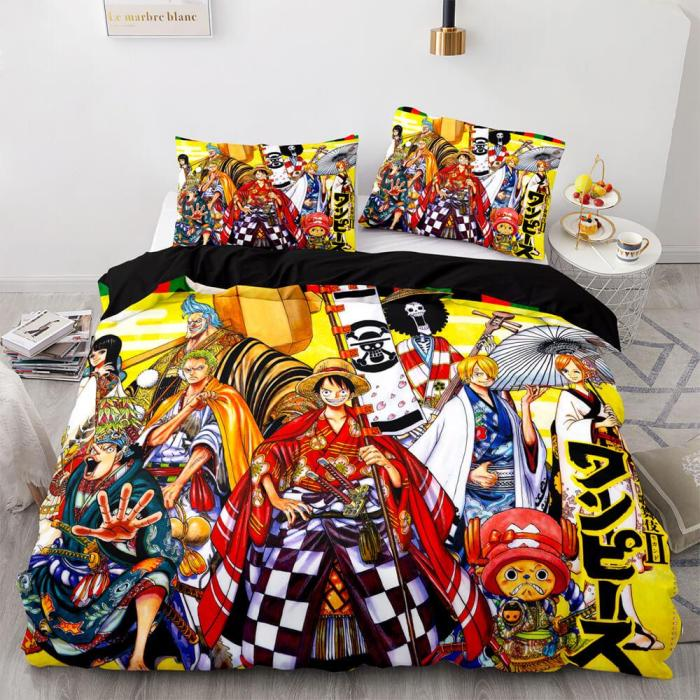 One Piece Cosplay Bedding Sets Full Duvet Covers Comforter Bed Sheets