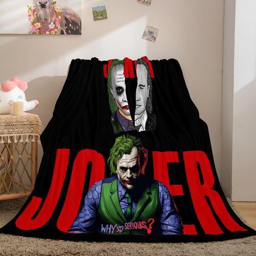 Joker Flannel Caroset Throw Cosplay Blanket Comforter Set