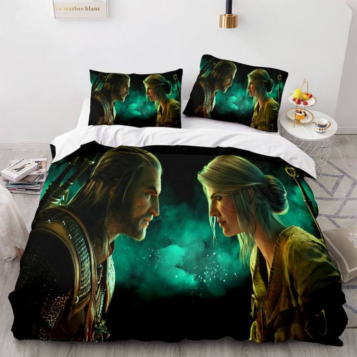 The Witcher 3 Wild Hunt Cosplay Comforter Bedding Sets Duvet Covers