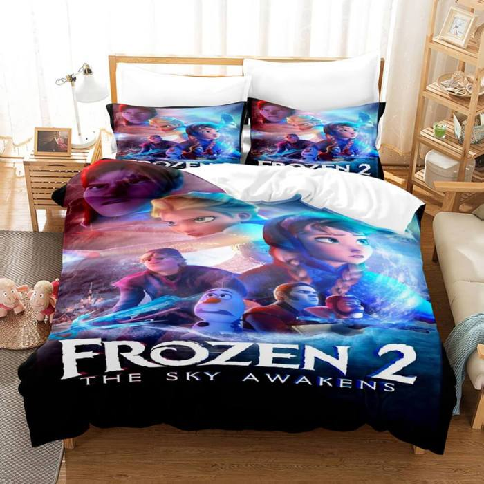 Frozen 2 Cosplay Bedding Set Comforter Bed Sheets Full Duvet Cover Set