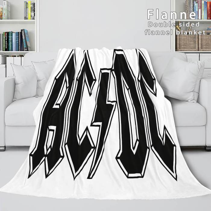 Acdc Orchestra Soft Flannel Blanket Fleece Throw Blanket Bedding Sets