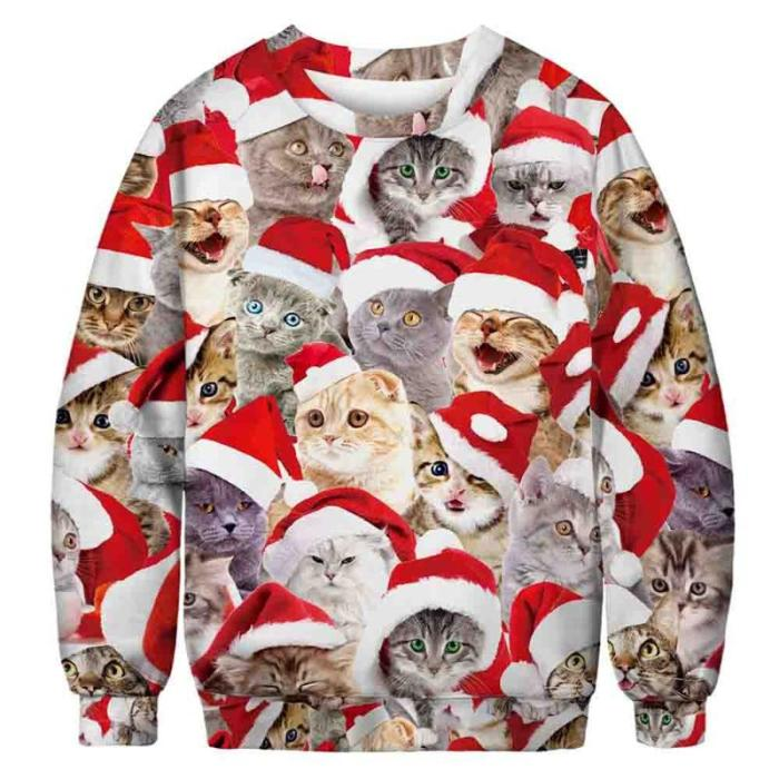Ugly Christmas Sweater 3D Print Funny Xmas Pullover Hoodie Sweatshirt Men Women Holiday Party Autumn Sweaters Jumpers Tops