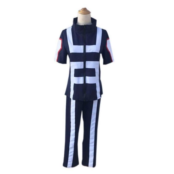 My Hero Academia Cosplay Costume Wigs Boku No Hero Academia Uniforms Short Sleeve Uniform Suit Apparel Sportswear Tops+Pants