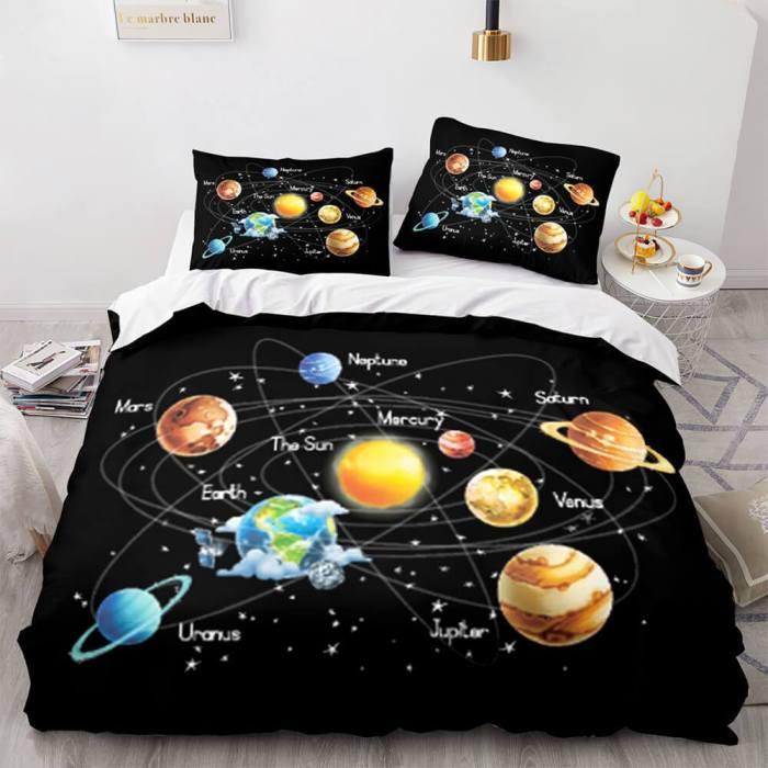 Spaceman Cosplay Bedding Set Duvet Cover Comforter Bed Sheets