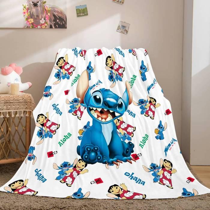 Lilo Stitch 2: Stitch Has A Glitch Flannel Fleece Throw Blanket Set