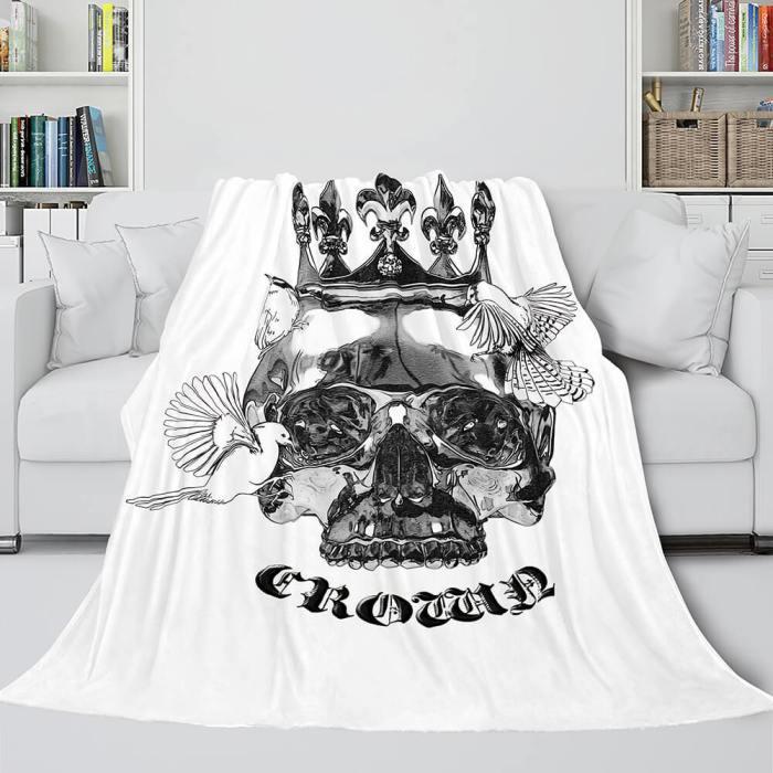 Halloween Decoration Skeleton Skull Bed Blanket Flannel Blanket Sets