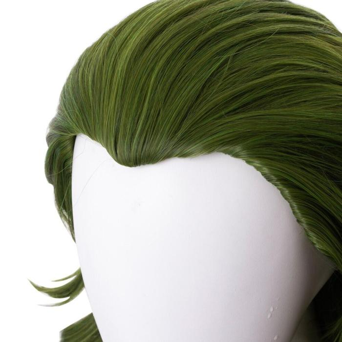 Clown Origin Series With The Same Wig Horror Clown Green Long Hair Halloween Cosplay Costume Stage Costume