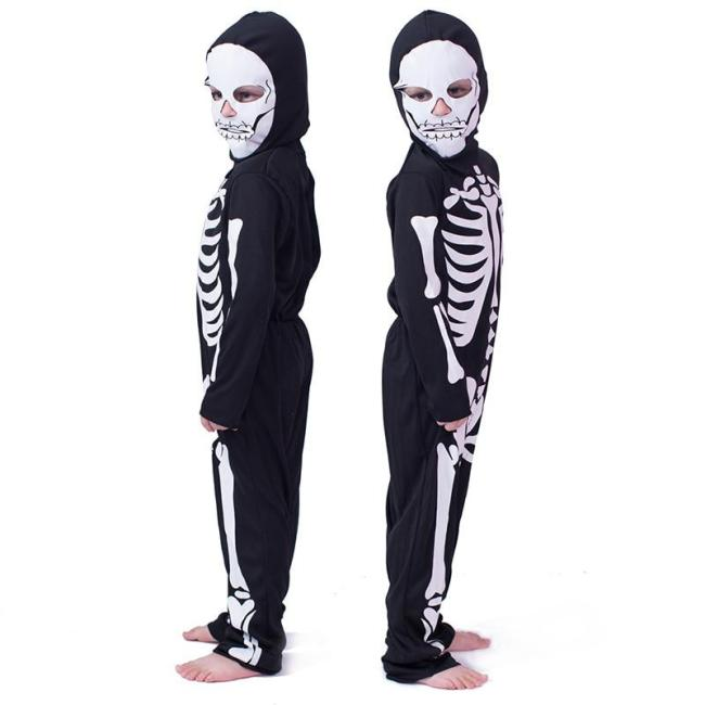 Halloween Children Costumes Cos Masquerade Costumes For Men And Women Skull Skeleton Ghost Clothes Horror Clothes Costumes
