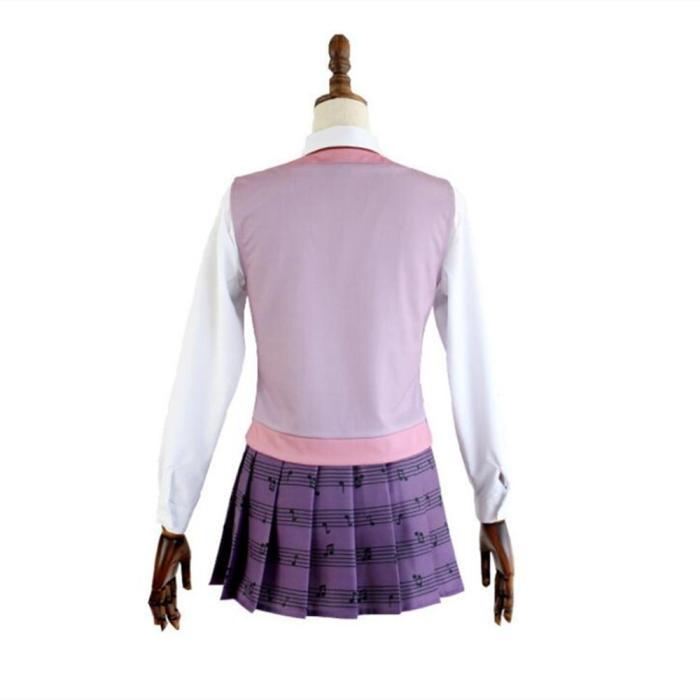 Anime Danganronpa Kaede Akamatsu Dress Uniforms Set Cosplay Costumes