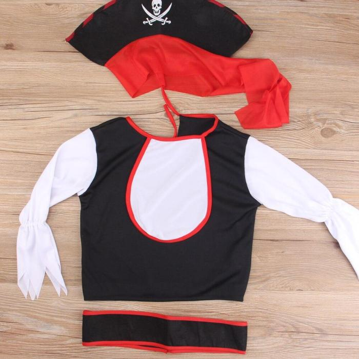 Halloween  Pirate Captain Baby Headwear Cosplay Costume Boys Girls Bodysuits Christmas Fancy Clothes Kids Children Jumpsuits