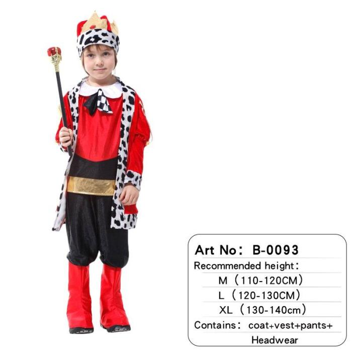 Halloween Cloak Crown Belt Prince King Crown Cosplay Costume Birthday Party Gift Children Boys Christmas Gift