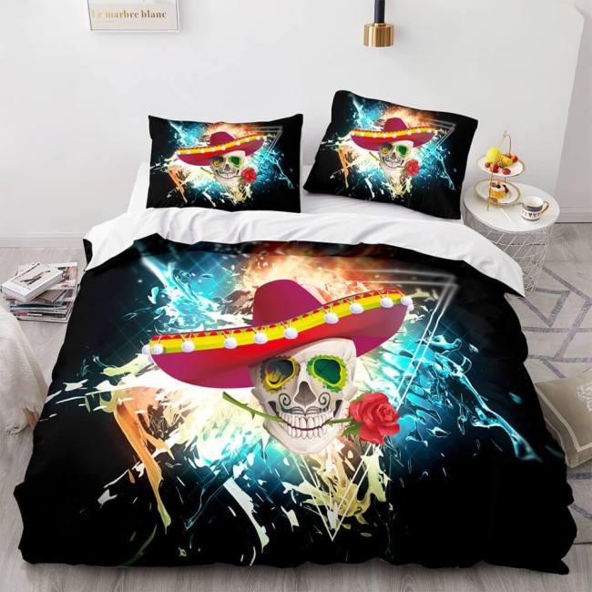 Halloween Horror Skeleton Skull Bedding Sets Duvet Covers Bed Sheets