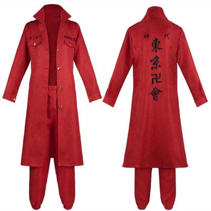 Tokyo Revengers Sano Manjiro Cosplay Costume Tokyo Manji Gang Mikey Cloak Pants Embroidery