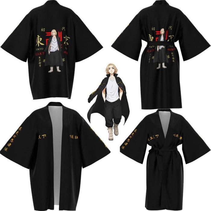 Anime Tokyo Revengers Cosplay Pajamas Cloak For Summer Haori Kimono Tee Adults Kids Long-Sleeve Costumes