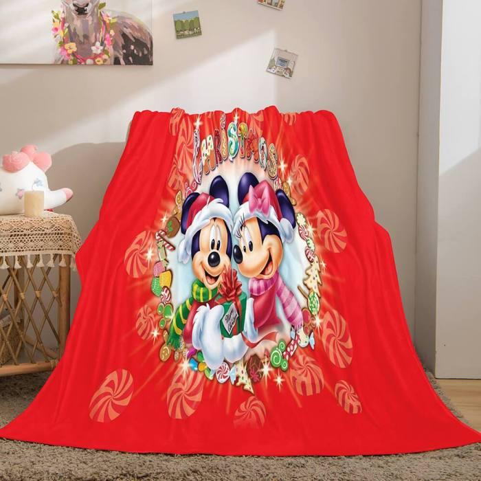 Christmas Decorations Flannel Fleece Throw Cosplay Blanket Comforter Set