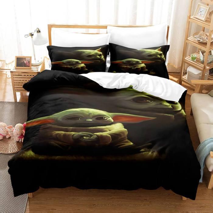 Star Wars Yoda Baby Cosplay Bedding Set Duvet Cover Comforter Bed Sheets