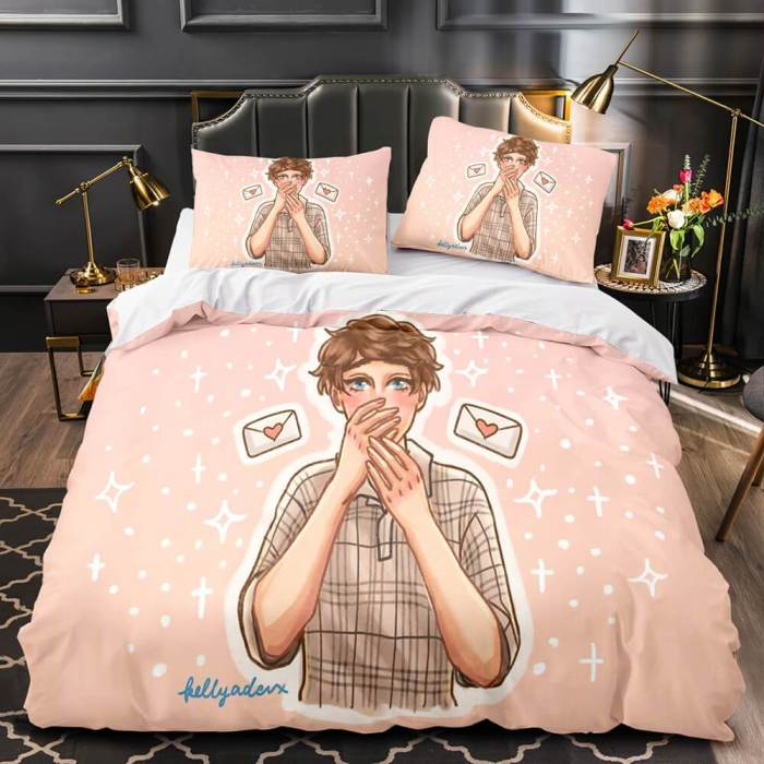 Karl Jacobs Cosplay 3 Piece Bedding Sets Duvet Covers Bed Sheets