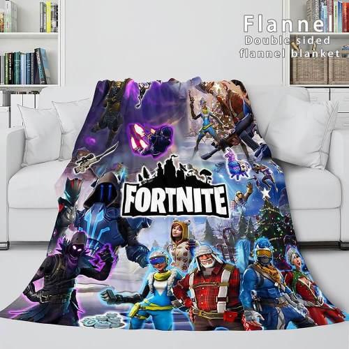 Game Fortnite Cosplay Flannel Blanket Throw Comforter Bedding Sets
