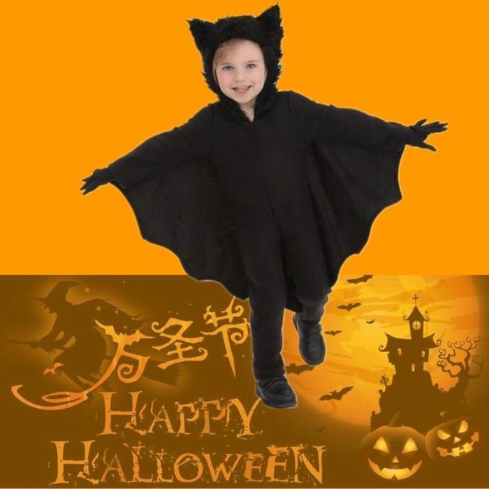 Children'S Vampire Cosplay Hooded Costume Kids Halloween Sexy Cosplay Costume Gloves Set Vestidos De Fiesta