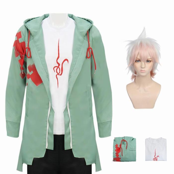 Anime Super Danganronpa 2 Nagito Komaeda Cosplay Costume Men Hoodies Jackets Clothes