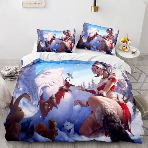 League Of Legends Lol Cosplay Bedding Sets Duvet Covers Bed Sheets