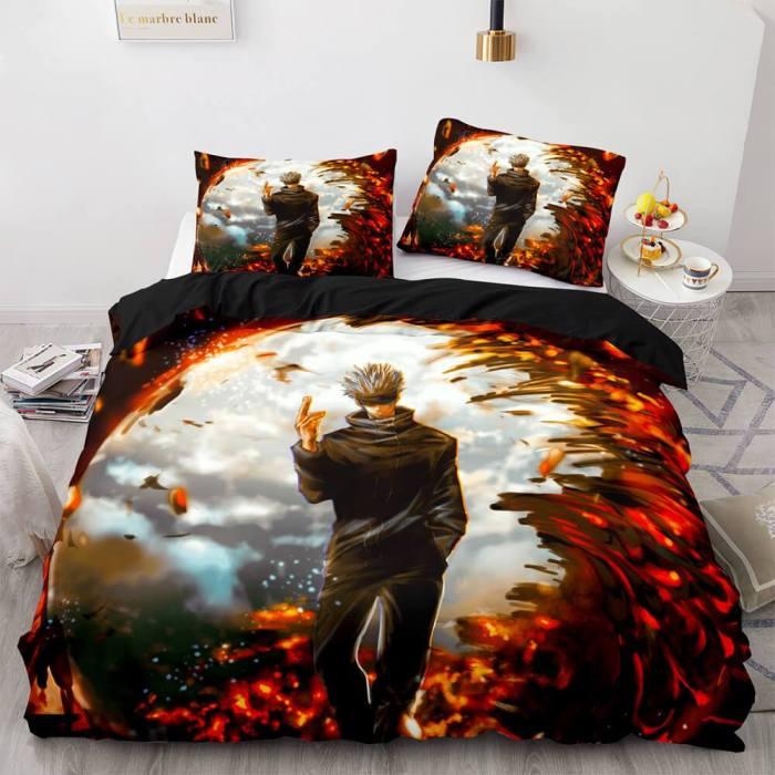 Jujutsu Kaisen Cosplay Bedding Sets Duvet Covers Comforter Bed Sheets