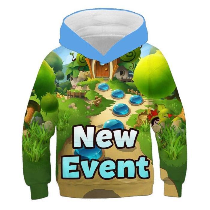 Children'S Hoodie Sweatshirt Boys And Girls  Game Bloons 6 3D Print Hoodies Autumn Kids Oversized Cool Top