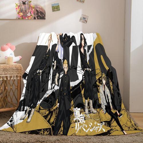 Tokyo Revengers Cosplay Flannel Blanket Throw Comforter Bedding Sets