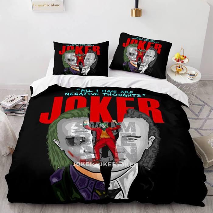 Joker Why So Serious Comforter Bedding Set Duvet Covers Bed Sheets
