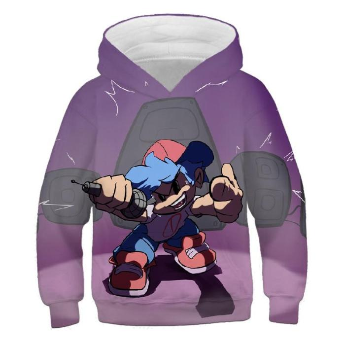 Baby Boy Anime Cartoon Friday Night Funkin Kids Clothes Girls 3D Print Hoodies Children'S Autumn Cool Comfortable Clothing Tops