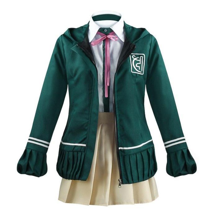 Anime Danganronpa Nanami Chiaki Cosplay Costume Long-Sleeved Jacket Short Skirt High School Students Uniform Wig
