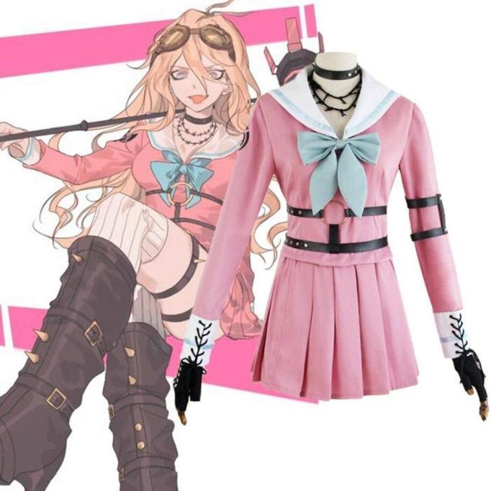 Anime Danganronpa V3 Miu Iruma Uniforms Cosplay Costumes Women Dress Girls Clothes