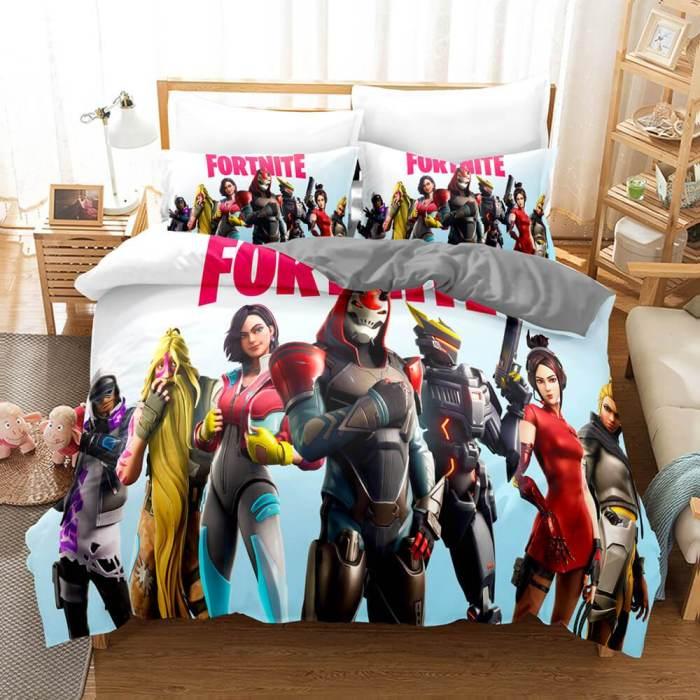Fortnite Cosplay Bedding Set Duvet Cover Comforter Bed Sheets