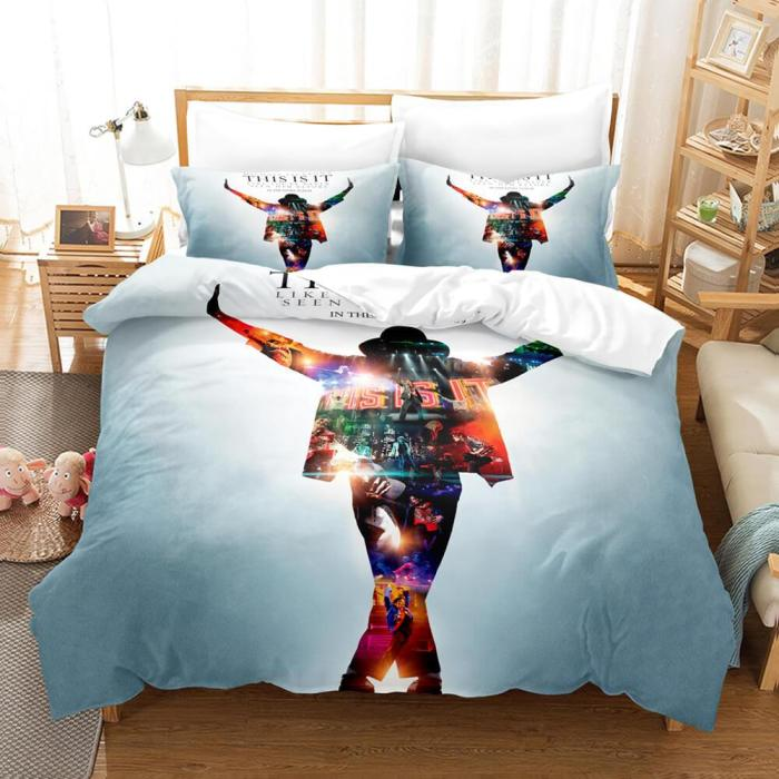 Michael Jackson Cosplay Bedding Sets Duvet Covers Comforter Bed Sheets