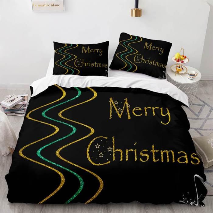 Merry Christmas Bedding Sets Full Duvet Covers Comforter Bed Sheets
