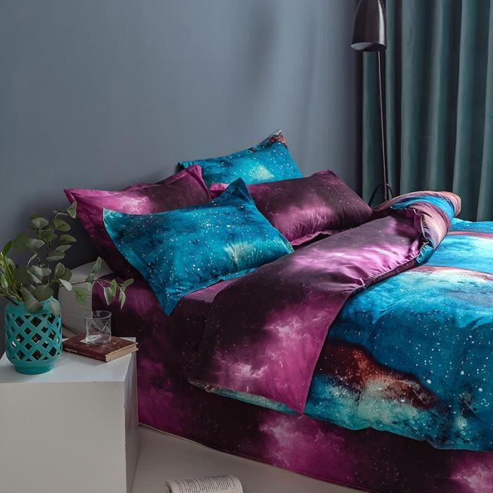 Galaxy Outer Space Comforter Bedding Sets Duvet Covers Bed Sheets
